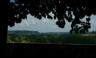 Blick nach Laucha von der Burg