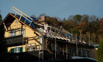 Abriss des alten Daches bereits fertiggestellt
