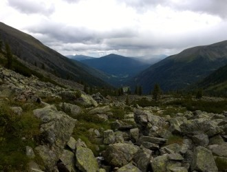 Ruhe nach dem Abstieg, Blick talauswärts