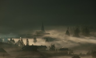 Nebelschwaden über Feistritz in Defereggen