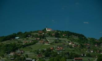 Landschaft bei Novo Mesto