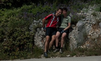 Pause im Salbei-Hain bei Crna Punta