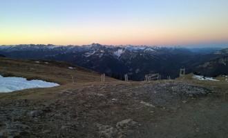 Morgenrot über Tirol