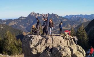 Bouldern am Taubenstein mit Almut, Paula, Lotte, Wolfgang und Dorina