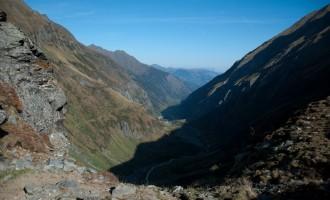 Blick zurück ins Tal, bis zum Talschluss hat uns der Nationalparkbus gebracht