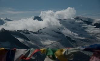 Gebetsfahnen wie im Himalaya