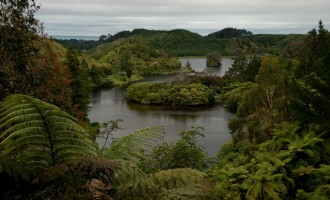 Lake Mangamahoe nördlich von Mt. Egmont