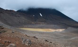 Blick vom Sattel in den South Crater