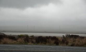 die Desert Road im Regen - keine trockene Wüste!