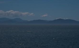 die Südinsel im Dunst der Cook Strait