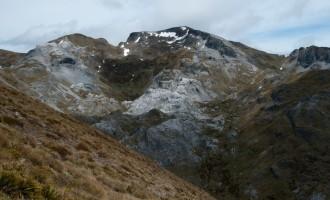 der Karstgipfel des Mt. Arthur