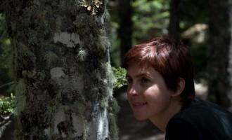 fasziniert von den Flechten an der Waldgrenze