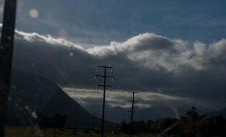 die Wettertheorie stimmt: Prä-Regenstimmung bei Otira westlich der Passhöhe