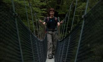 eine geliebte swingbridge über den Bowyer´s River