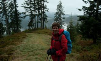 im Abstieg nach dem Gerzkopf, oberhalb des Neuberger Hofes