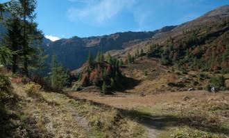 nach dem felsigen Aufstieg aus dem Winklertal: der Obstanser Boden