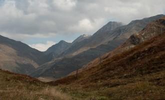 karge Wiesen am exponierten Gipfelkamm oberhalb des Lesachriegels