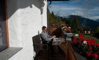die letzten wärmenden Sonnenstrahlen auf unserem Balkon