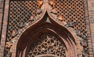 Fassadendetail der mittelalterlichen Kapelle in Ziesar
