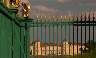 endlich der Blick auf Schloss Rheinsberg!