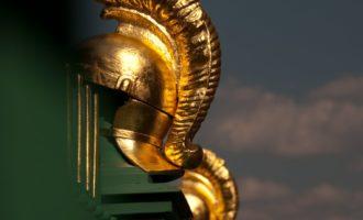 am Obelisken: Detail des Zaunes