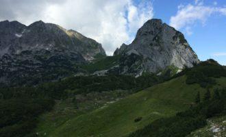 die Wolken bauschen sich schon über dem Traunstein/Tennengebirge auf