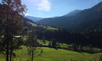 Johnsbach am frühen Morgen - laut N.P.-Broschüre ist es das Alpine Arkadien!
