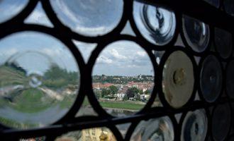 Blick von der Burg auf die andere Elbe-Seite