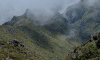 Blick nach Westen, der Nebel steigt nun auf
