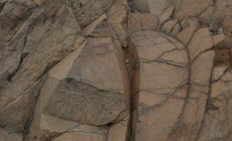 Nahaufnahme vom Basaltgestein