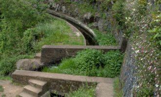 Levada do Norte, eine der längsten und wasserreichsten Wasserführungen der Insel