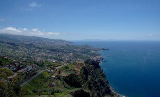 optimale Aussicht vom Cabo Girao in Richtung Funchal (Osten)