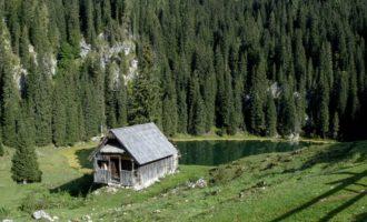 Vormittagsrast auf der Koca na Planini pri Jezeru