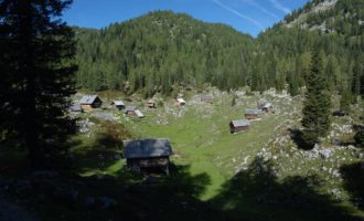 idyllische und bewohnte Alm-Siedlung Dedno Polje