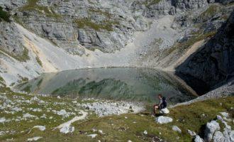 kleine Pause am Unteren Krisko-See
