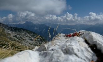 Blick vom Aussichtspunkt Cukla ins Triglav-Gebirge