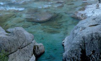 in der Velika Korita (Grosse Schlucht) bei Soca-Lepena