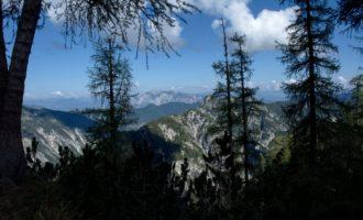 Blick über die Grenze nach Kärnten auf den Dobratsch
